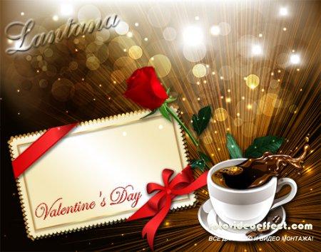 PSD исходник для фотошопа - Валентинов день 7