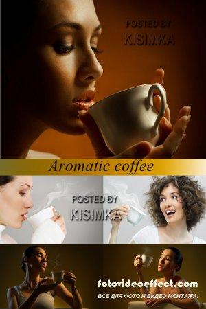 Stock Photo: Aromatic coffee