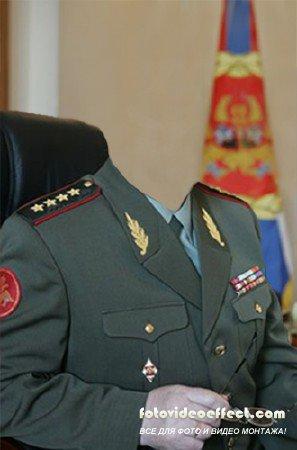 Шаблон для фотошопа – Генерал Армии