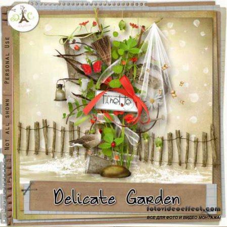 Цветочный скрап-набор - Уютный сад