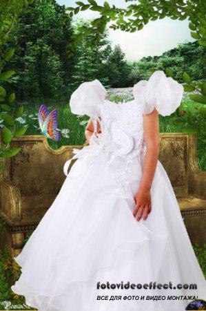 Шаблон для фотомонтажа - Секретный сад